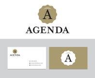 Agenda logo Zdjęcia Stock