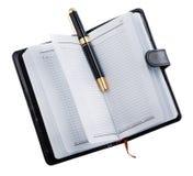 Agenda met pen Stock Fotografie