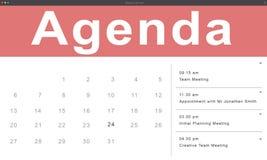 Agenda Nominacyjnego rozkładu kalendarza przypomnienia pojęcie Zdjęcie Stock