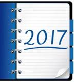 2017 agenda notatnika błękitny biuro Obrazy Royalty Free