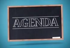 Agenda pisać w dużych kapitałowych listach Obrazy Royalty Free
