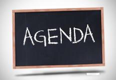 Agenda pisać na blackboard Zdjęcie Stock