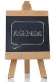 Agenda pisać na blackboard Zdjęcie Royalty Free
