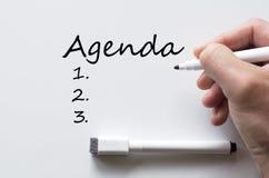 Agenda pisać na whiteboard Zdjęcia Royalty Free