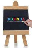 Agenda pisać w barwionych listach Zdjęcia Stock