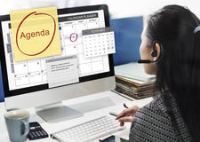 Agenda Planner To Do List Planning Concept Royalty Free Stock Images