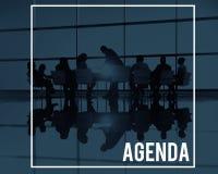 Agenda planu programa rozkładu kalendarza pojęcie Zdjęcie Royalty Free