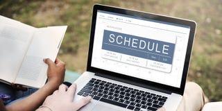 Agenda planu programa rozkładu zajęć Nominacyjny pojęcie Obrazy Stock