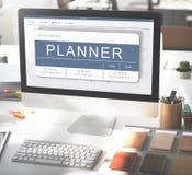 Agenda planu programa rozkładu zajęć Nominacyjny pojęcie Zdjęcia Stock