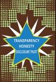 Agenda politica concettuale del testo della foto di affari di fiducia di rivelazione di onestà della trasparenza di rappresentazi royalty illustrazione gratis