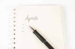 Agenda record,notebook Stock Image
