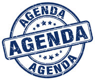 Agenda stamp. Agenda round grunge stamp isolated on white background Stock Photos