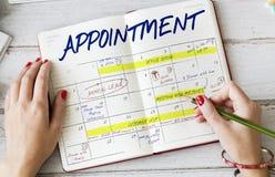 Agenda rozkładu zajęć kalendarza rozkładu grafika Obrazy Stock