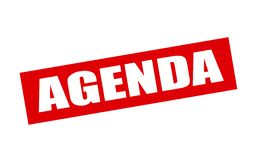 Agenda. Rubber stamp with word agenda inside,  illustration Royalty Free Stock Image