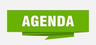 Agenda. Sign.  paper origami speech bubble.  tag.  banner stock illustration