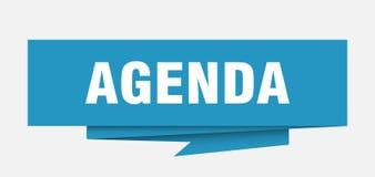 Agenda. Sign.  paper origami speech bubble.  tag.  banner vector illustration