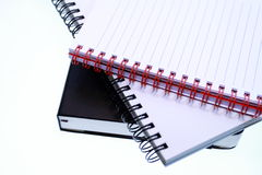 Agenda and spiral  block-notes Royalty Free Stock Photos