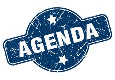 Agenda stamp. Agenda grunge vintage stamp isolated on white background. agenda. sign royalty free illustration