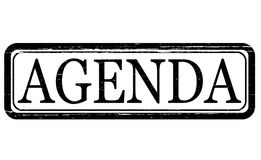 Agenda. Stamp with word agenda inside,  illustration Royalty Free Stock Images