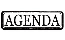 Agenda. Stamp with word agenda inside,  illustration Royalty Free Stock Photo