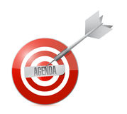 Agenda target illustration design Stock Photography