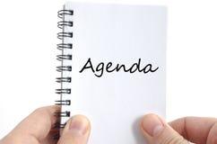 Agenda teksta pojęcie Zdjęcia Stock