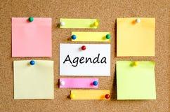 Agenda teksta pojęcie Obraz Stock