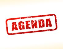 Agenda text buffered. Illustration of agenda text buffered on white background Stock Photo