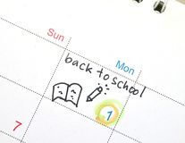 Agenda in time planner or calendar Royalty Free Stock Photo