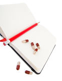 Agenda van gezondheid met vitaminen Royalty-vrije Stock Afbeeldingen
