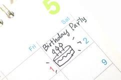 Agenda w czasu kalendarzu lub planiście Zdjęcia Royalty Free