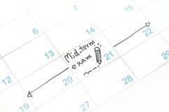 Agenda w czasu kalendarzu lub planiście Zdjęcie Royalty Free