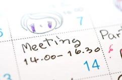 Agenda w czasu planiście Obraz Stock