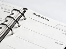 Agenda, wekelijkse ontwerper Royalty-vrije Stock Afbeeldingen