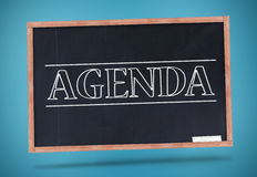 Agenda written in big capital letters Royalty Free Stock Images