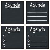 Agenda. Written on a blackboard royalty free illustration