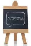 Agenda written on a blackboard Royalty Free Stock Photo