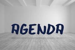 Agenda written in bright room Stock Photos