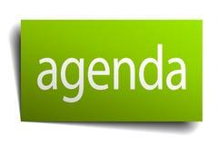 agenda znak Zdjęcia Royalty Free