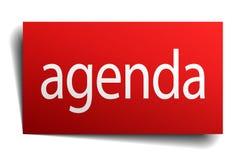 agenda znak Zdjęcie Royalty Free