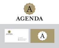 Agendaembleem Stock Foto's