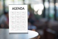 Agendy aktywności informaci kalendarza wydarzenia i Spotykać Appointm Zdjęcia Royalty Free