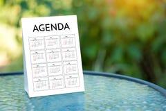 Agendy aktywności informaci kalendarza wydarzenia i Spotykać Appointm Fotografia Stock