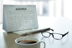Agendy aktywności informaci kalendarza wydarzenia i Spotykać Appointm Zdjęcie Stock