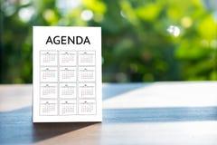 Agendy aktywności informaci kalendarza wydarzenia i Spotykać Appointm Obraz Royalty Free