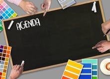 Agendy aktywności informaci kalendarza wydarzenia i Spotykać Appointm Zdjęcia Stock
