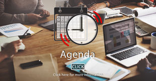 Agendy listy organizatora planu przypomnienia Nominacyjny pojęcie Obrazy Stock