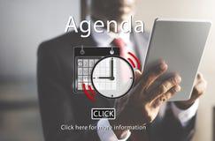 Agendy listy organizatora planu przypomnienia Nominacyjny pojęcie Zdjęcie Stock