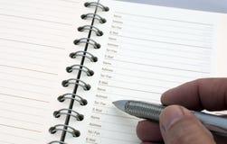 agendy planowanie Obraz Stock
