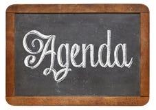 Agendy słowo na blackboard Obrazy Stock